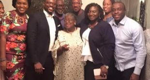 Okonjo Iweala  with guests at her 62nd birthday party