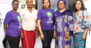 """L-R, Kikanwa Akpenyi (Head Customer Experience & Analytics) of Heritage Bank Plc, Anthonia Ojenagbon, CEO, Silton African Kitchen, Cynthia Erigbuem (Group Head, Market Intelligence & Analytics) of the bank, Raliat A. Oyetunde (SME Consultant), Mrs. Ini Abimbola (CEO Thistle Praxis Consulting), during the event organized by Heritage Bank to mark the International Women's Day tagged: """"Be Bold for Change,"""" in Lagos."""