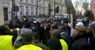 Protesters in Nigerian embassy 4