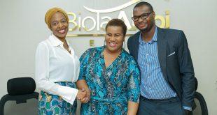 L-R: Biola Alabi, Chigul and BB  Sasore